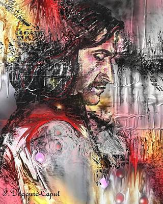 Absract Painting - Richard Armitage by Francoise Dugourd-Caput