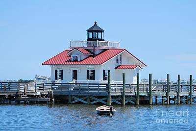 Photograph - Roanoke Marsh Lighthouse by Bob Sample