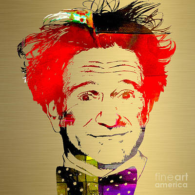 Actors Mixed Media - Robin Williams Art by Marvin Blaine
