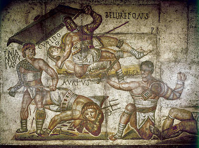 Borghese Painting - Roman Gladiators by Granger