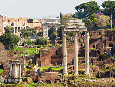 Temple Of Castor And Pollux Photograph - Rome, Italy. The Roman Forum by Ken Welsh