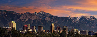 Lake Wall Art - Photograph - Salt Lake City Skyline by Douglas Pulsipher