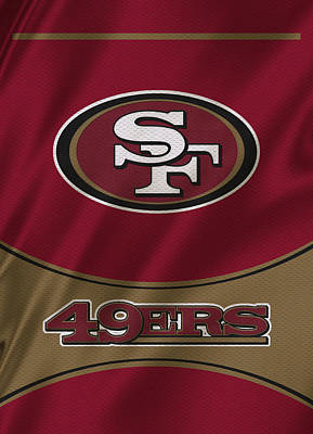 Uniforms Photograph - San Francisco 49ers Uniform by Joe Hamilton