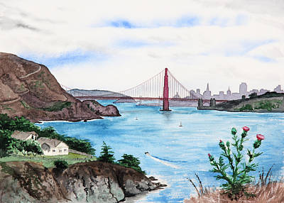 Painting - San Francisco by Masha Batkova