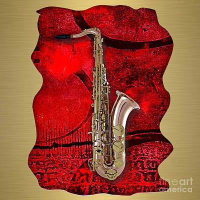 Saxophone Collection. Print by Marvin Blaine