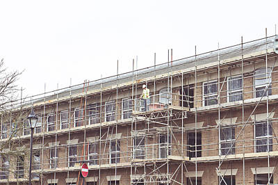Working Hours Photograph - Scaffolding by Tom Gowanlock