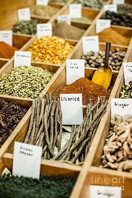 Soap Suds - Spices on display in open market in Israel.  by Mariusz Prusaczyk