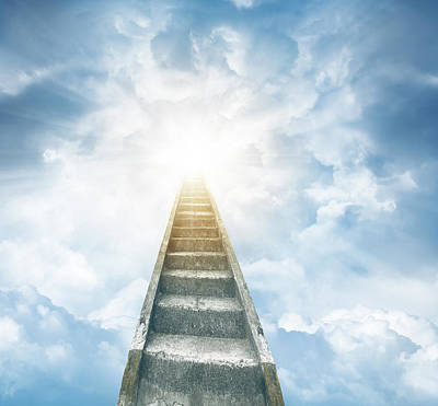 Staircase Photograph - Stairway To Heaven by Les Cunliffe