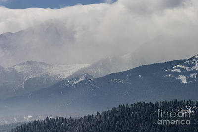 Steven Krull Royalty-Free and Rights-Managed Images - Stormy Peak by Steven Krull