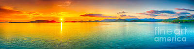 Fantasy Royalty-Free and Rights-Managed Images - Sunset panorama by MotHaiBaPhoto Prints