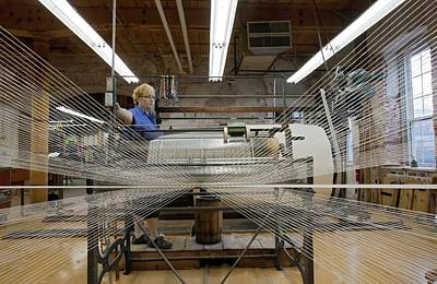 Textile Mill Warping Creel Art Print by Jim West