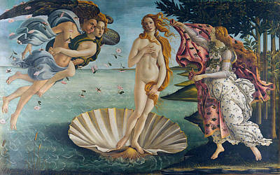 White Shirt Painting - The Birth Of Venus by Sandro Botticelli