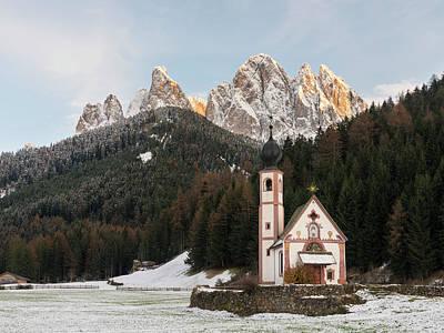 Tyrol Wall Art - Photograph - The Peaks Of The Geisler Mountain Range by Martin Zwick