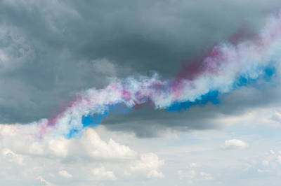 Photograph - The Red Arrows by Gary Eason