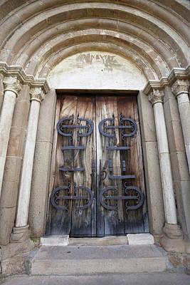 Portal Photograph - The Romantic Church Of Cisnadioara by Martin Zwick