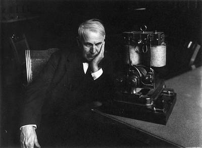 Photograph - Thomas Edison (1847-1931) by Granger