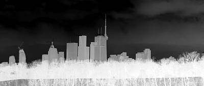 Invert Color Photograph - Toronto Skyline by Valentino Visentini
