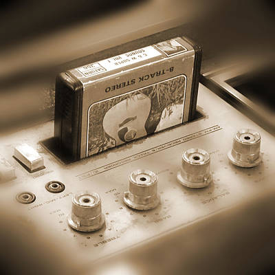 Square Art Digital Art - 8-track Tape Player by Mike McGlothlen