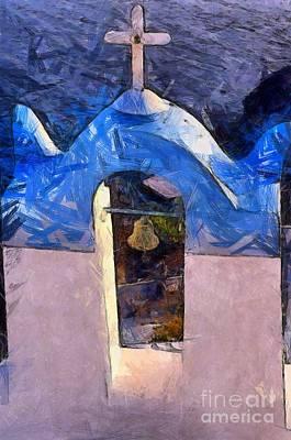 Painting - Traditional Belfry by George Atsametakis