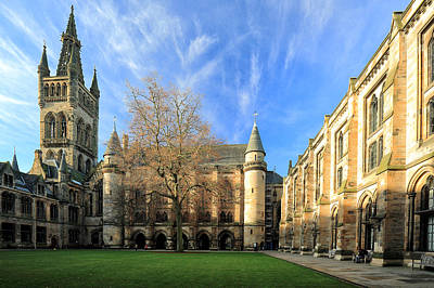 Photograph - University Of Glasgow by Grant Glendinning