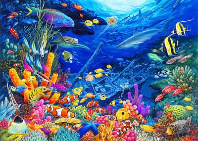 Puzzle Painting - Undersea Wonders by John Francis