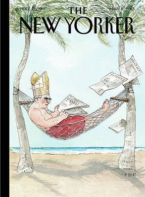 Newspaper Painting - New Yorker March 11th, 2013 by Barry Blitt