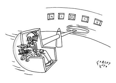 Astronauts Drawing - New Yorker August 4th, 2008 by Farley Katz