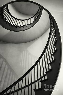 Spiral Staircase Photograph - Untitled by Greg Ahrens