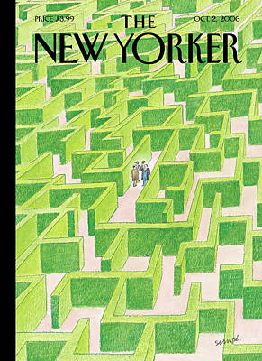 Other Painting - New Yorker October 2nd, 2006 by Jean-Jacques Sempe