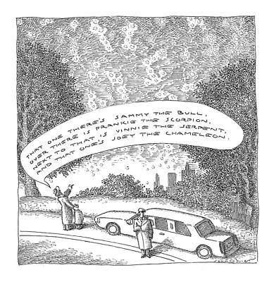 Astronomy Drawing - New Yorker May 23rd, 2005 by John O'Brien