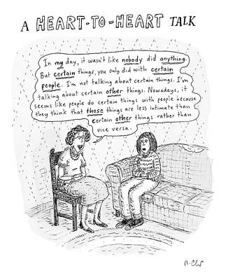 Bees Drawing - New Yorker January 21st, 2008 by Roz Chast
