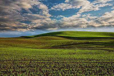 Farm Scene Photograph - Usa, Washington State, Palouse, Spring by Terry Eggers