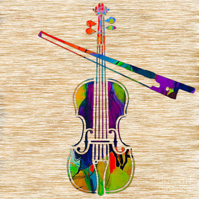 Violin Mixed Media - Violin by Marvin Blaine