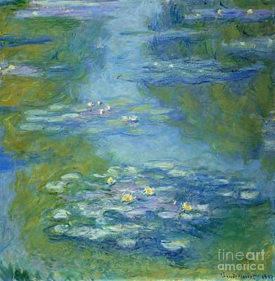 Garden Painting - Waterlilies by Claude Monet