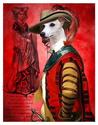 Painting - Whippet Art Canvas Print  by Sandra Sij
