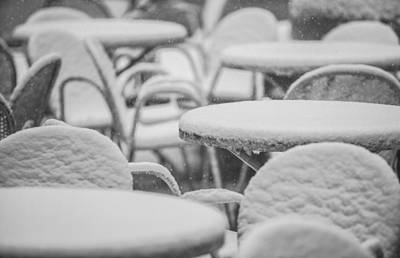 Photograph - Winter Geometry. Snow In The Big City by Alex Potemkin