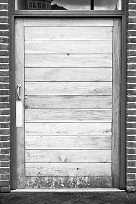 Bachelor Pad Photograph - Wooden Door by Tom Gowanlock
