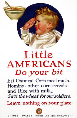 American Food Drawing - Wwi Food Supply, 1917 by Granger