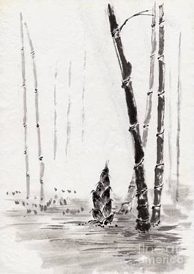 Antlers - Japanese Painting by Indian Summer