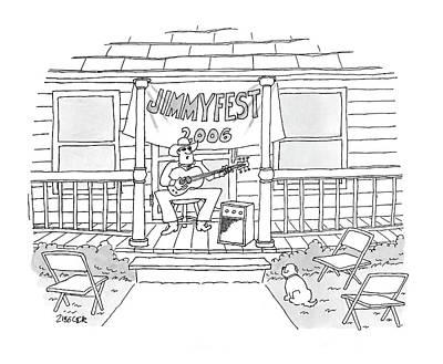 Singer Drawing - Jimmyfest 2006 by Jack Ziegler