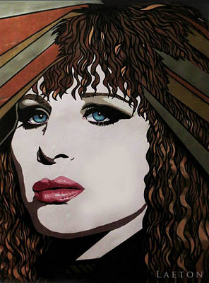 80's Barbra Art Print by Richard Laeton