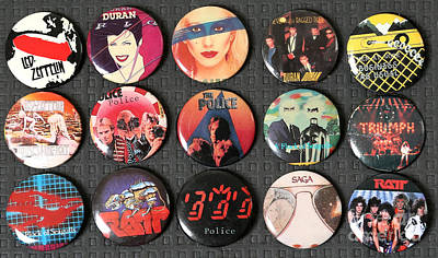 Duran Duran Photograph - 80s Music Rock Pins by Jt PhotoDesign