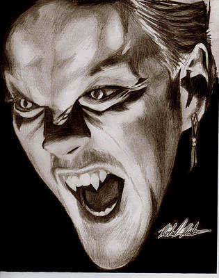 80's Vampire Art Print by Michael Mestas