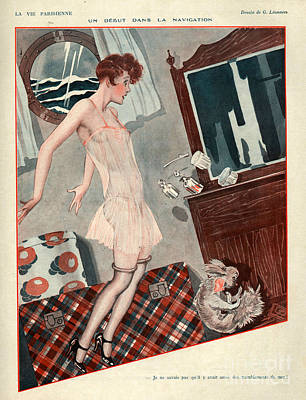 Storm Drawing - 1920s France La Vie Parisienne Magazine by The Advertising Archives