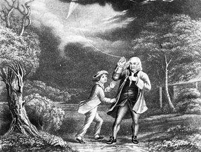 Ben Franklin Painting - Benjamin Franklin (1706-1790) by Granger