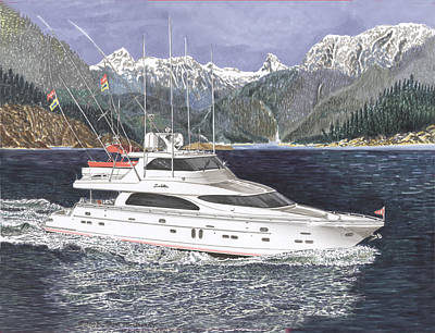 Painting - 82 Foot Horizon In Desolation Sound  by Jack Pumphrey