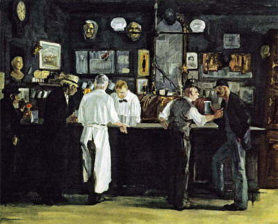Beer Royalty-Free and Rights-Managed Images - McSorleys Bar New York by John Sloan