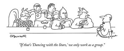 Superheros Drawing - If That's 'dancing With The Stars by Charles Barsotti
