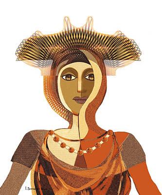 821 - Byzantine Princess Print by Irmgard Schoendorf Welch
