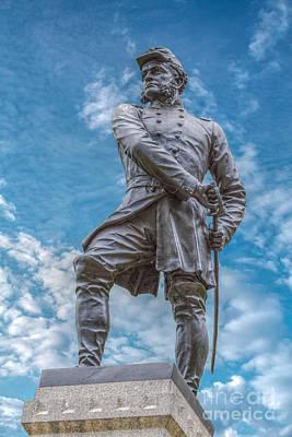 Little Round Top Digital Art - 83rd Pennsylvania Monument Gettysburg by Randy Steele